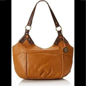 The SAK Indio Tan Leather Satchel Purse Bag